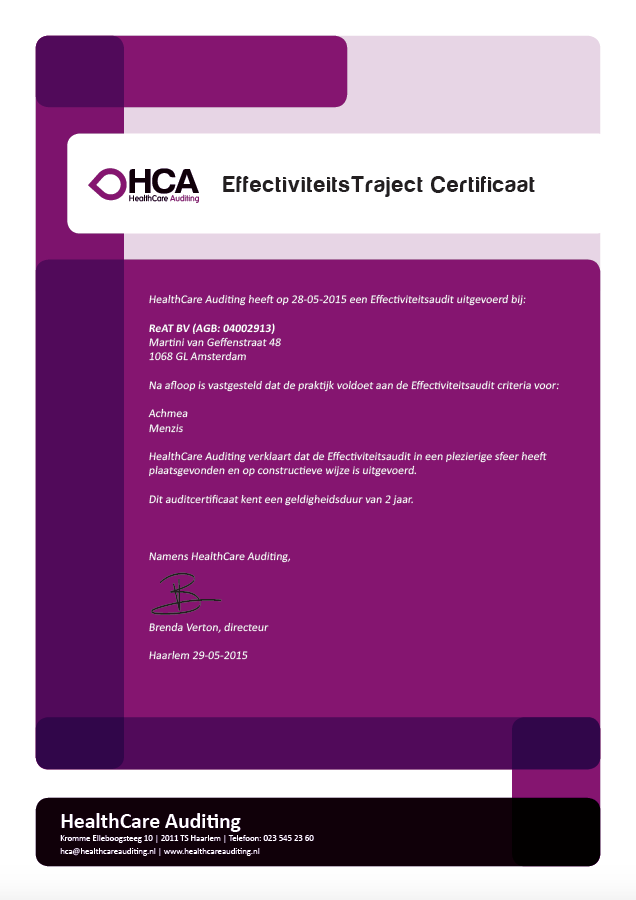 Certificaat Plus Audit 2015-2017